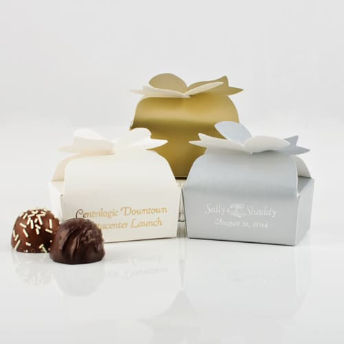 2 Pc. Personalized Truffle Bow Box