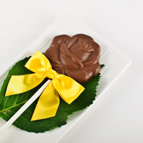 Chocolate Open Rose Lolly