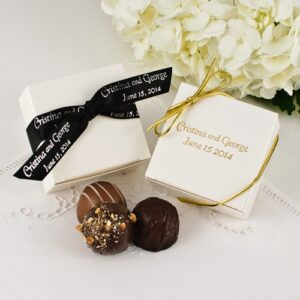 3 Pc. Personalized Truffle Favour Box