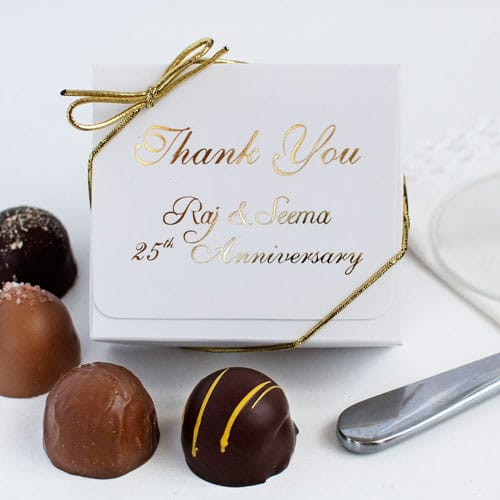 4 Pc. Personalized Truffle Favour Box