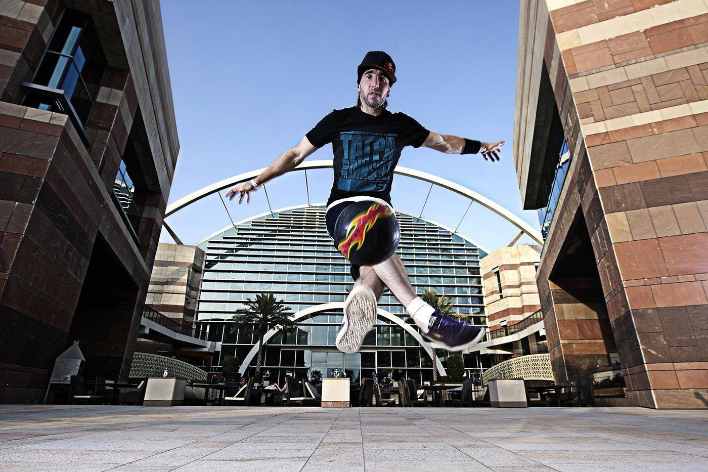 Sean Garnier performs during Red Bull Street Style in Dubai Festival City, Dubai, United Arab Emirates on June 29th, 2012 // Naim Chidiac/Red Bull Content Pool