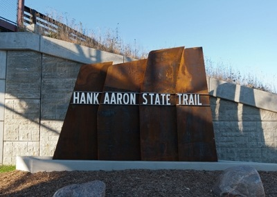 Hank Aaron State Trail Sign