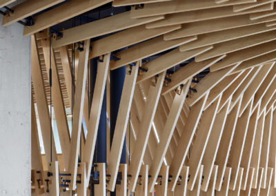 Ceiling Canopy Transition Detail at Stairs