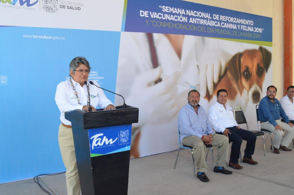 Inicia en Tamaulipas Semana Nacional de Vacunación Antirrábica 2018