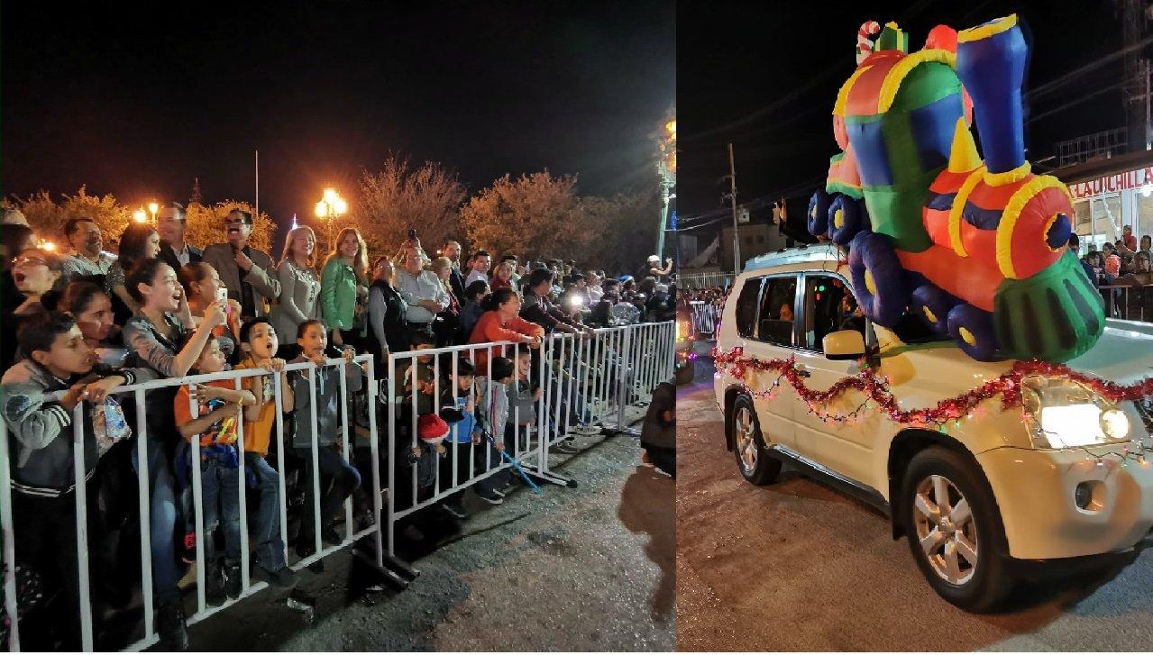Miles disfrutaron del vistoso desfile navideño.