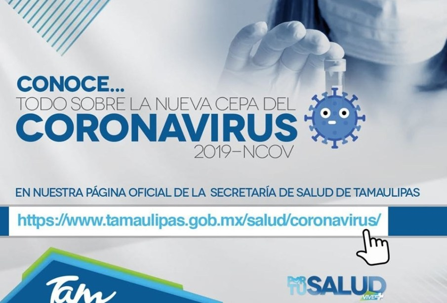 Confirma SST segundo caso de COVID-19 en Tamaulipas