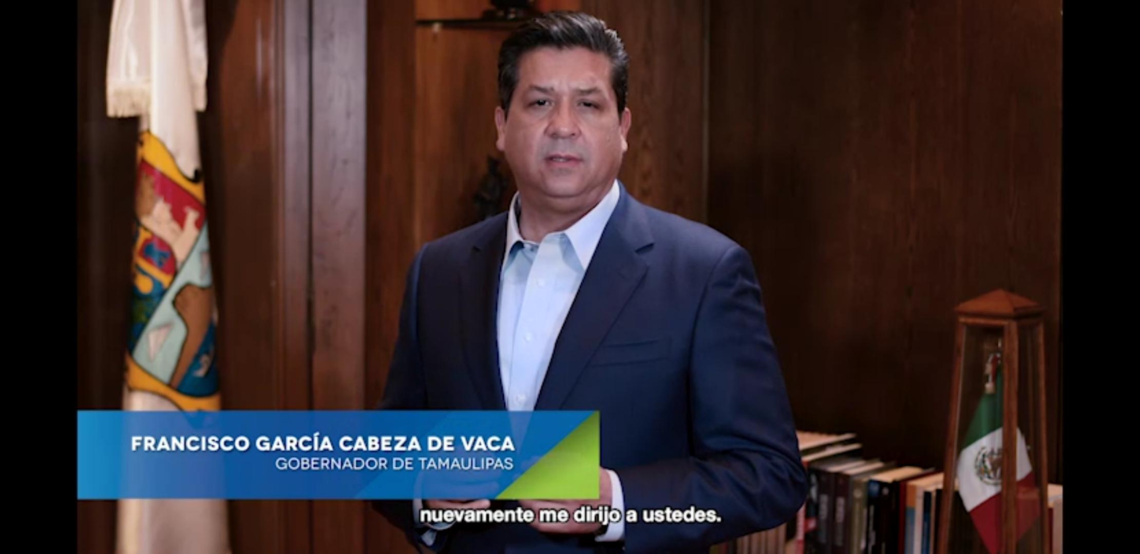 Mensaje del gobernador Francisco García Cabeza de Vaca
