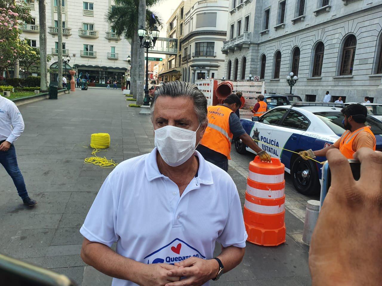 Ordena Chucho Nader Cierrede la Zona Centro de Tampico