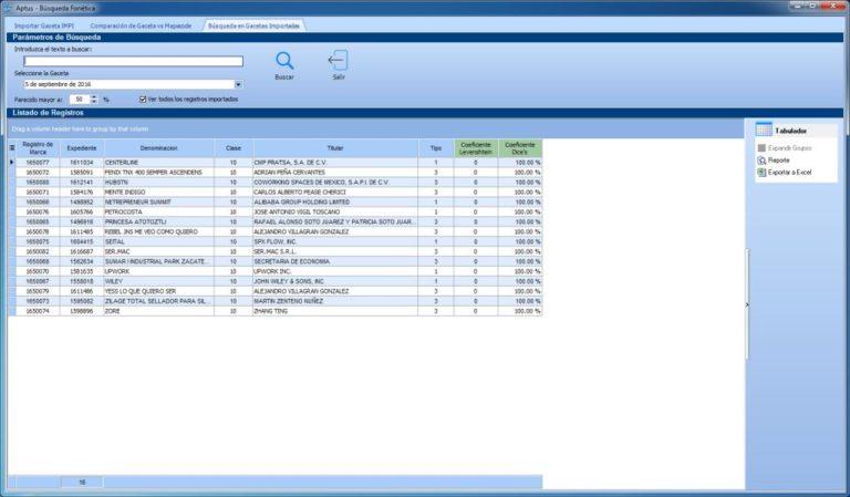 Busqueda en Gacetas Importadas 768x449 - Aptus Legal Systems - Using solutions designed for legal law firms