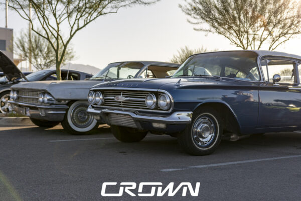 Chevrolet bel air and Cadillac at topgolf tucson