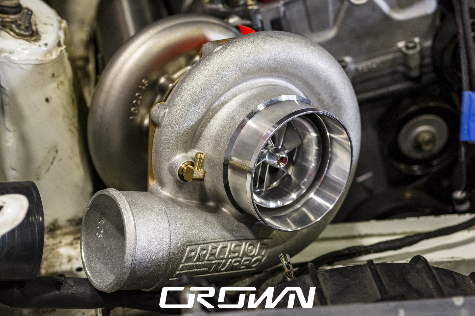PT 6875 Precision Turbo and Engine on s2000
