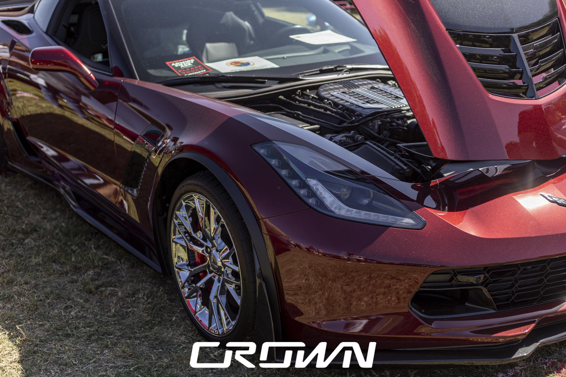 C7 Corvette Maroon Tucson Classic Car Show