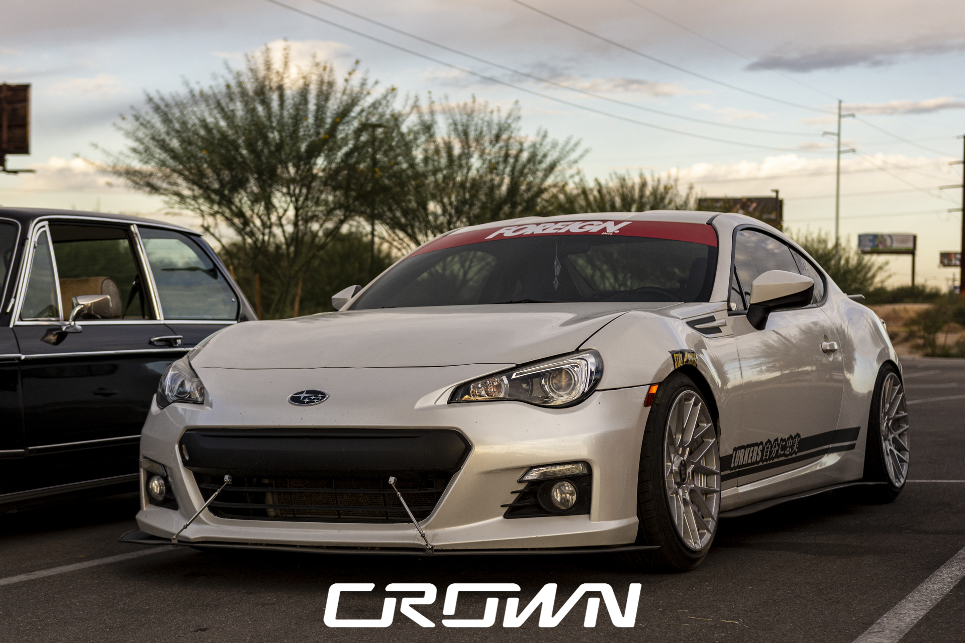 Subaru BRZ modified silver