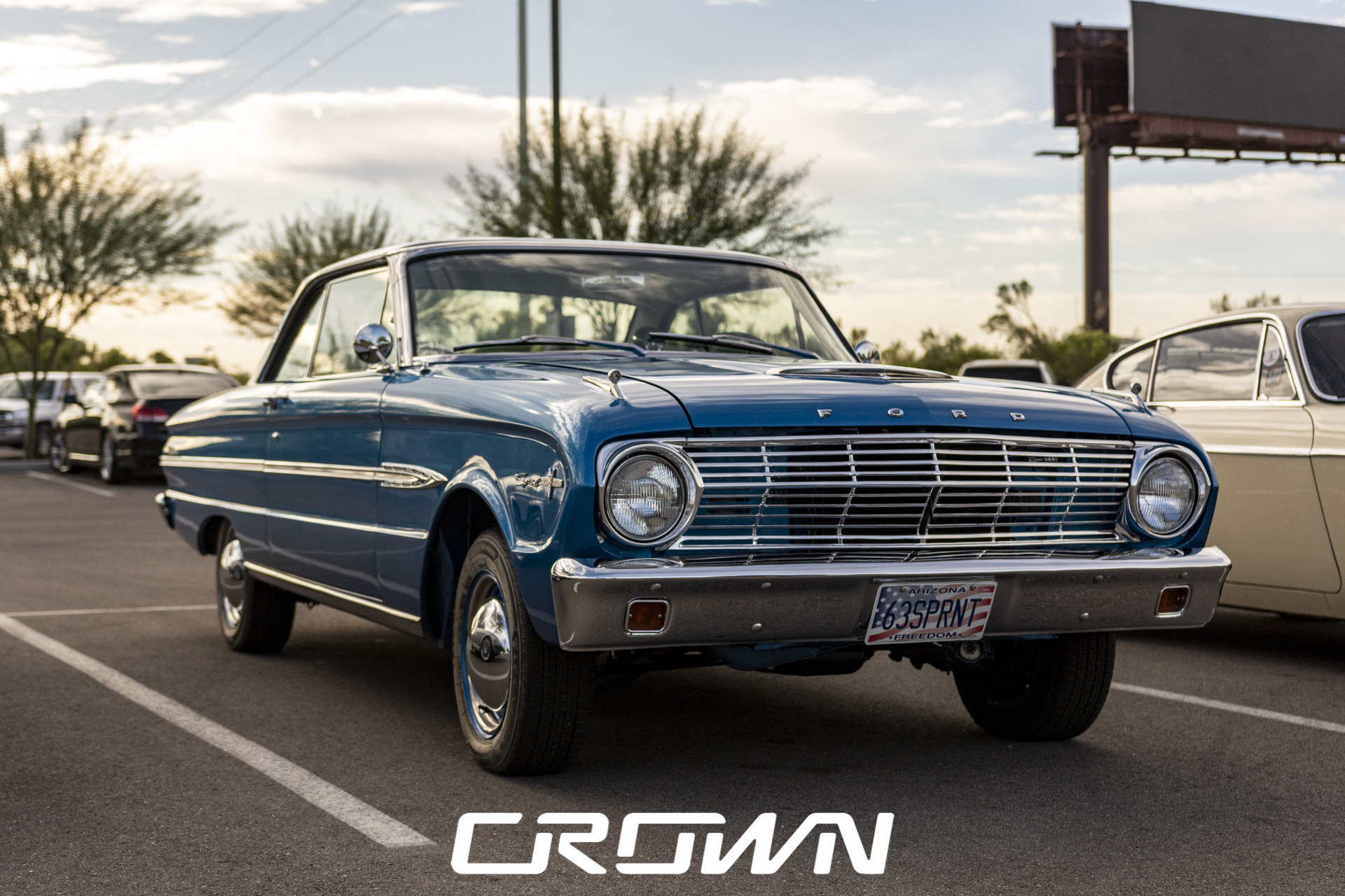 1963 Ford Falcon Sprint at Cars and coffee and clubs Tucson Arizona