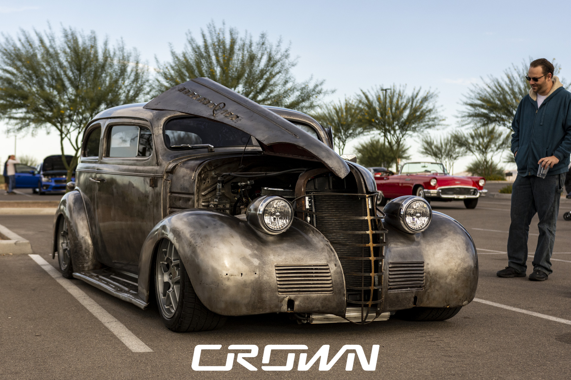 rat rod classic car at topgolf tucson Arizona crown concepts