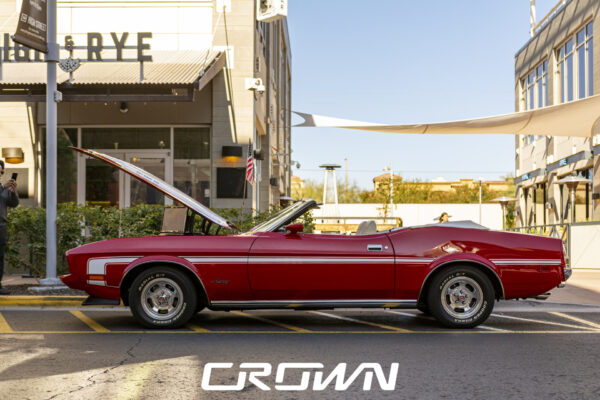 1971 Ford Mustang restoration red at FCCS 2020