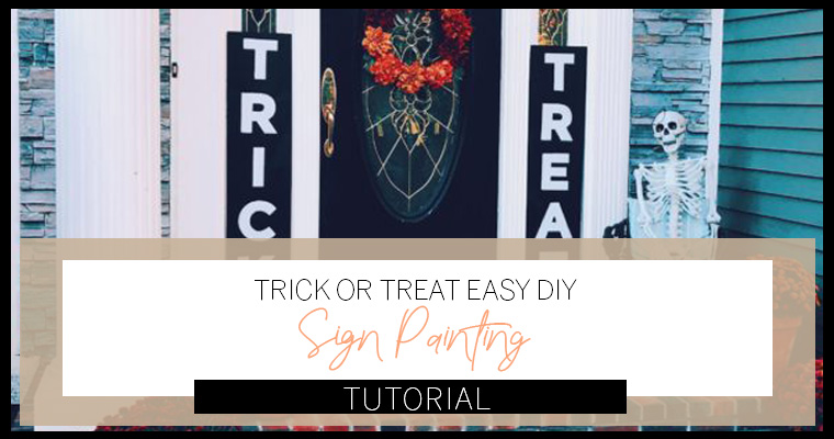 How To Make Totally Easy Trick Or Treat Signs Neighbors Will Envy