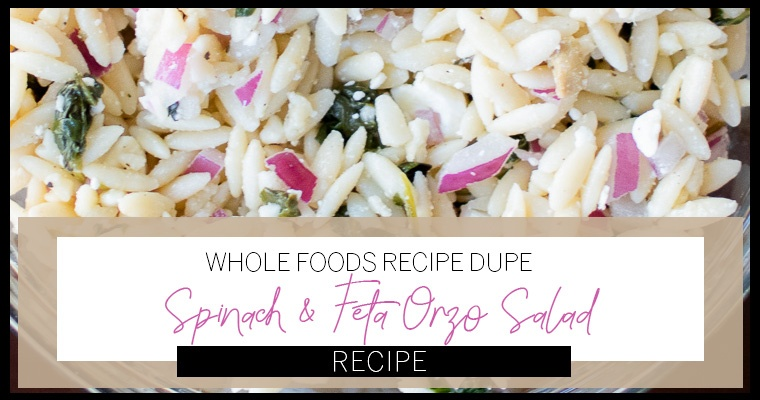 Whole Foods Greek Orzo Salad Recipe Solved- Dupe Made Easy