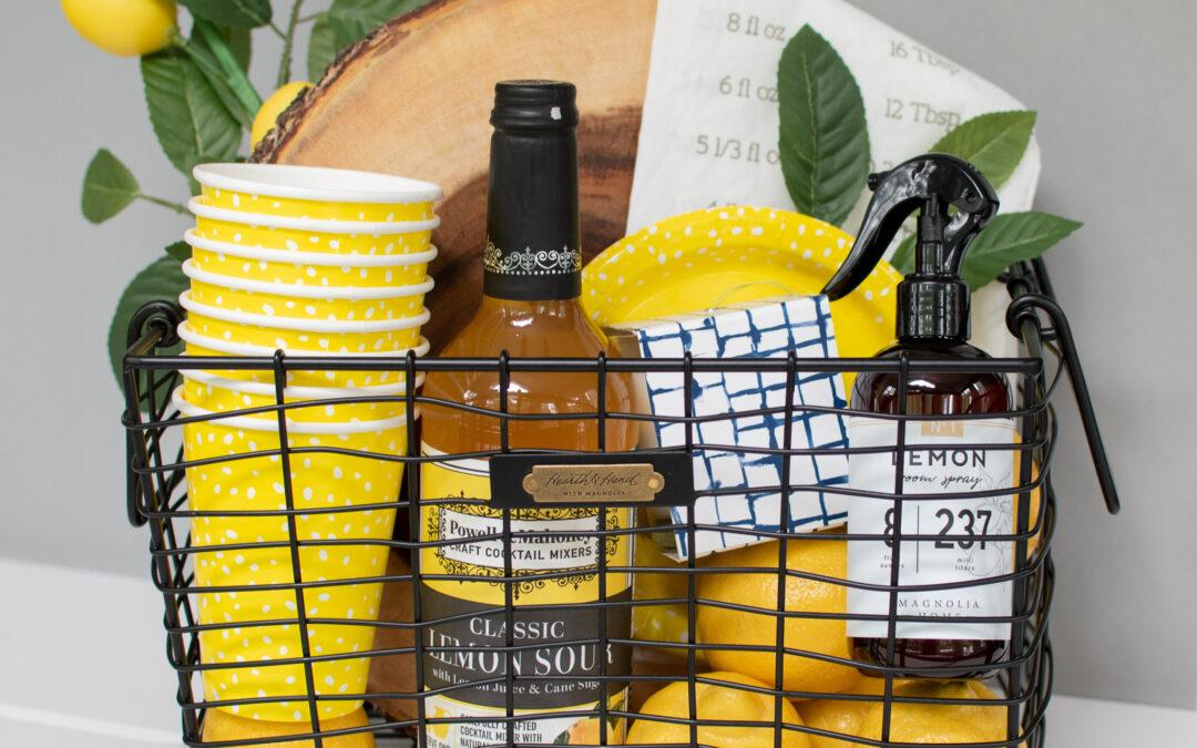 Easy Summer Gift Basket- Lemon Theme
