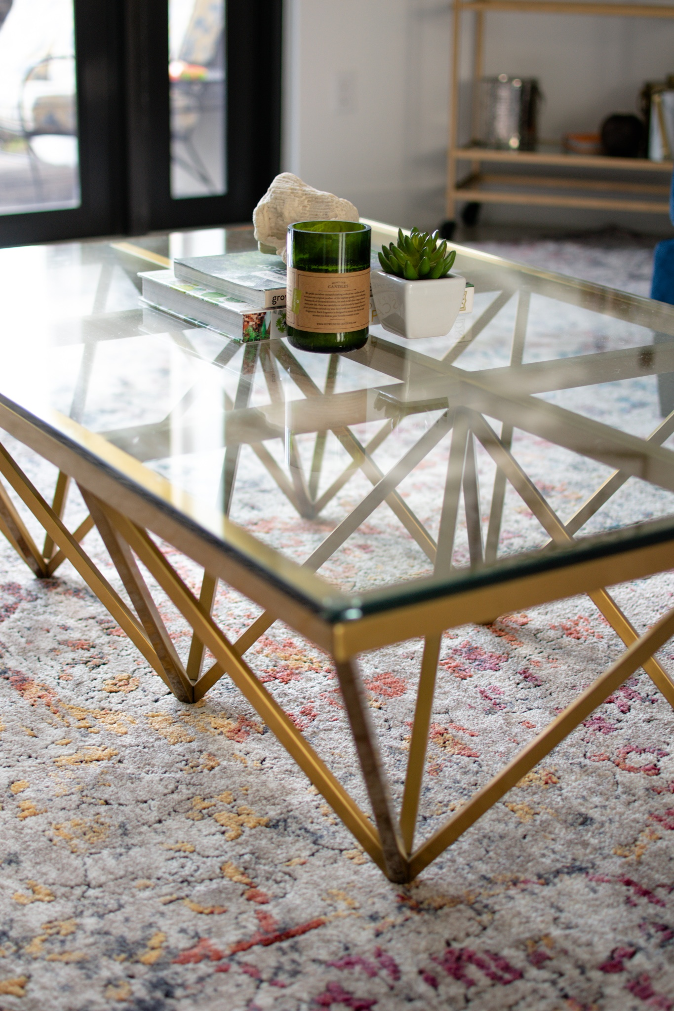 modern gold coffee table