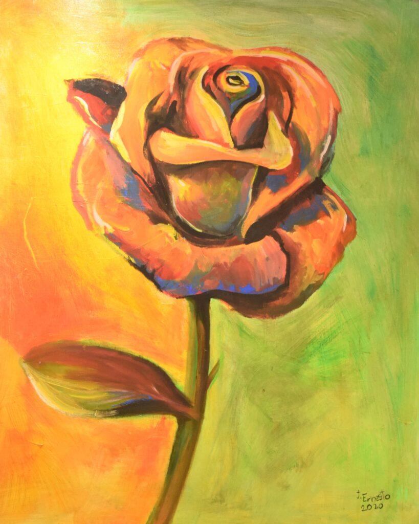 Título: Rosa de prisma Técnica: Acrílico Dimensiones: 100 x 80 cm Precio: 420.00 $ Fecha: 2020 Lugar: Panamá Instagram: @galeriaj.ernesto_shop