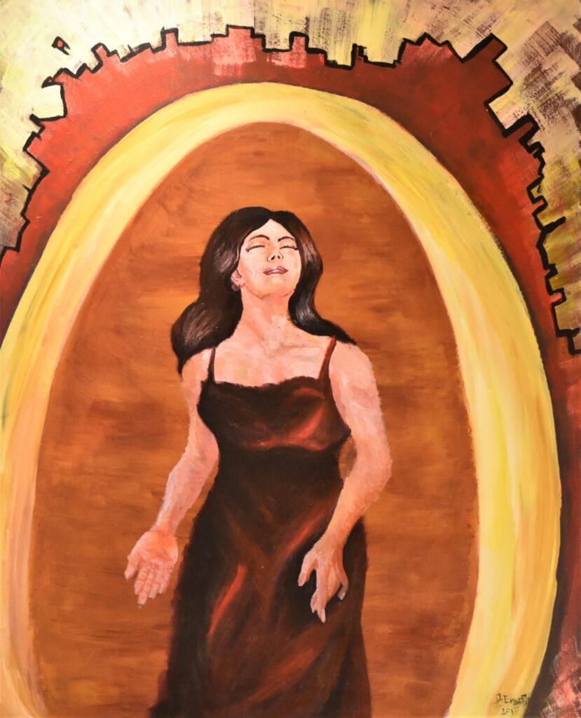 Título: Mujer inquebrantable  Técnica: Acrílico Dimensiones: 80 x 100 cm  Precio: 380.00 $ Fecha: 2017 Lugar: Panamá