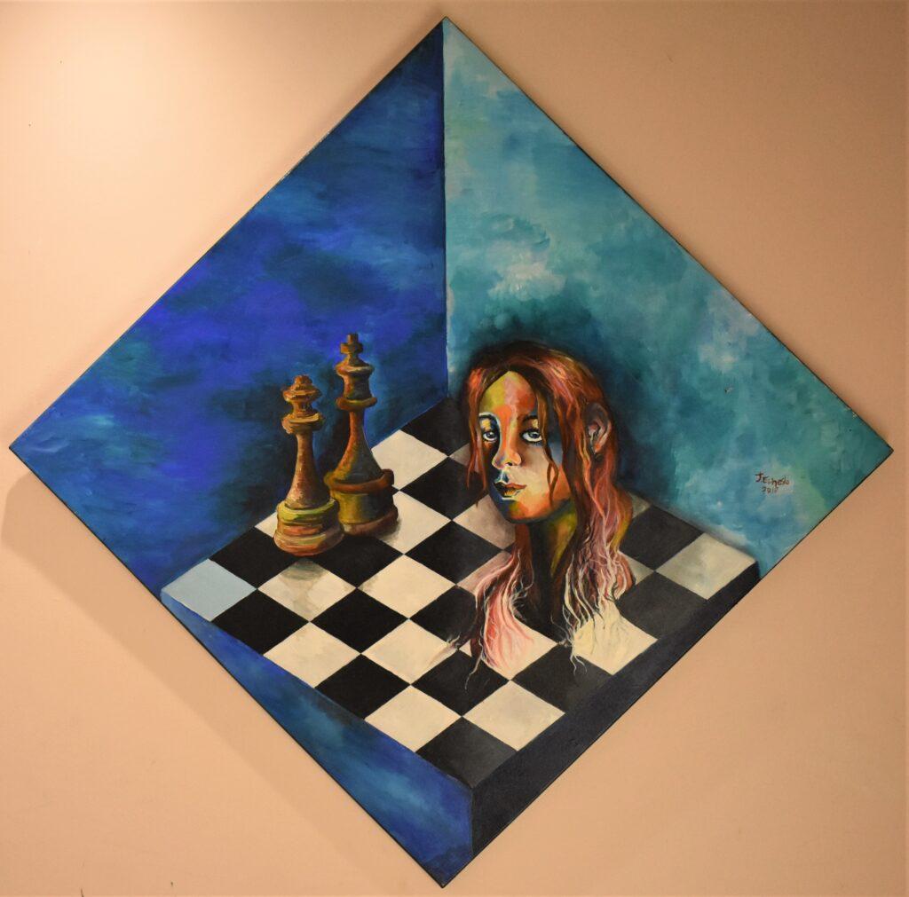 Título: La Dependecia Mutua  Técnica: Acrílico Dimensiones: 92 x 92 cm  Precio: 360.00  $ Fecha: 2017