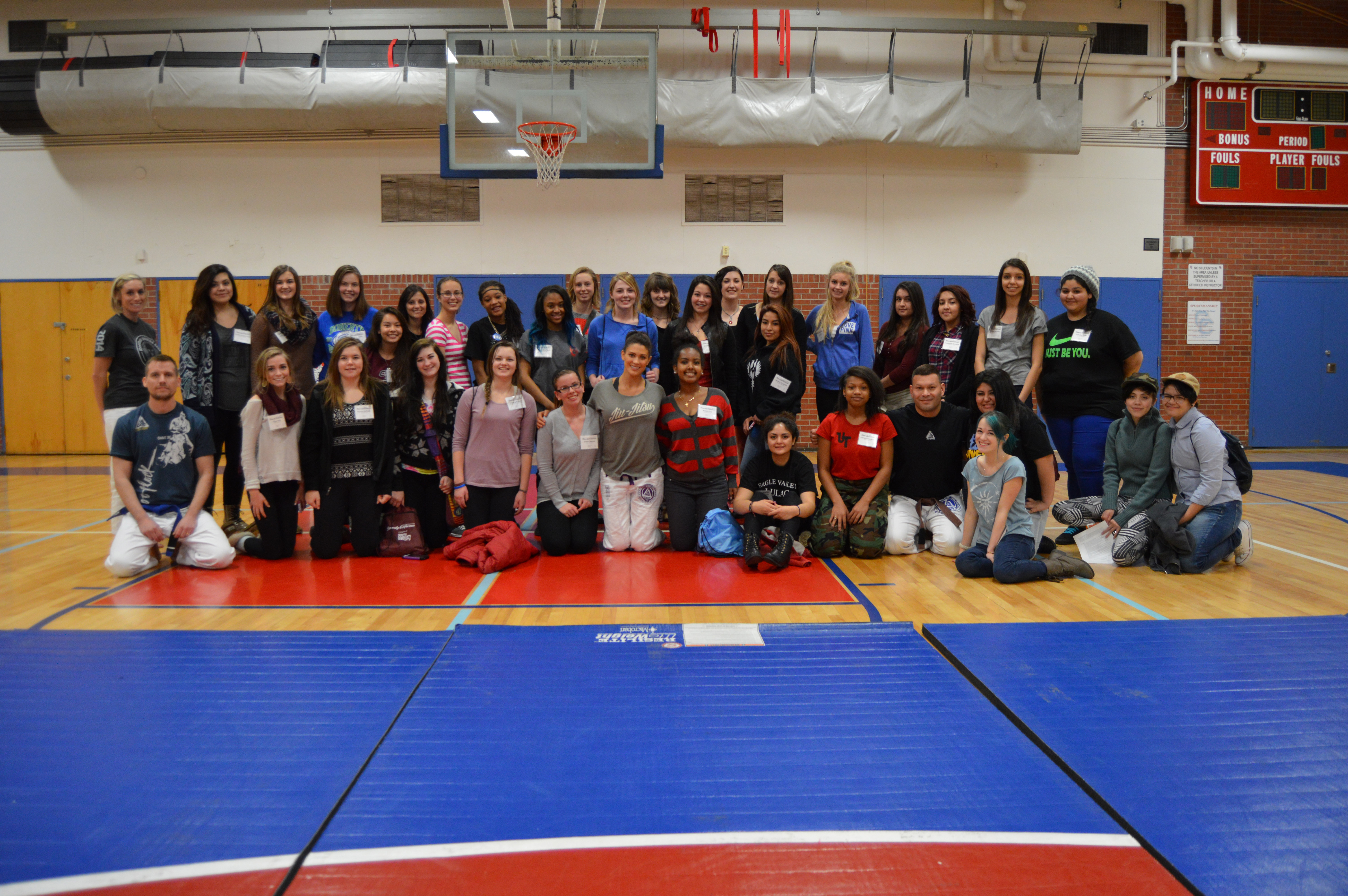 Eve returns to Cherry Creek High School to offer self-defense course!
