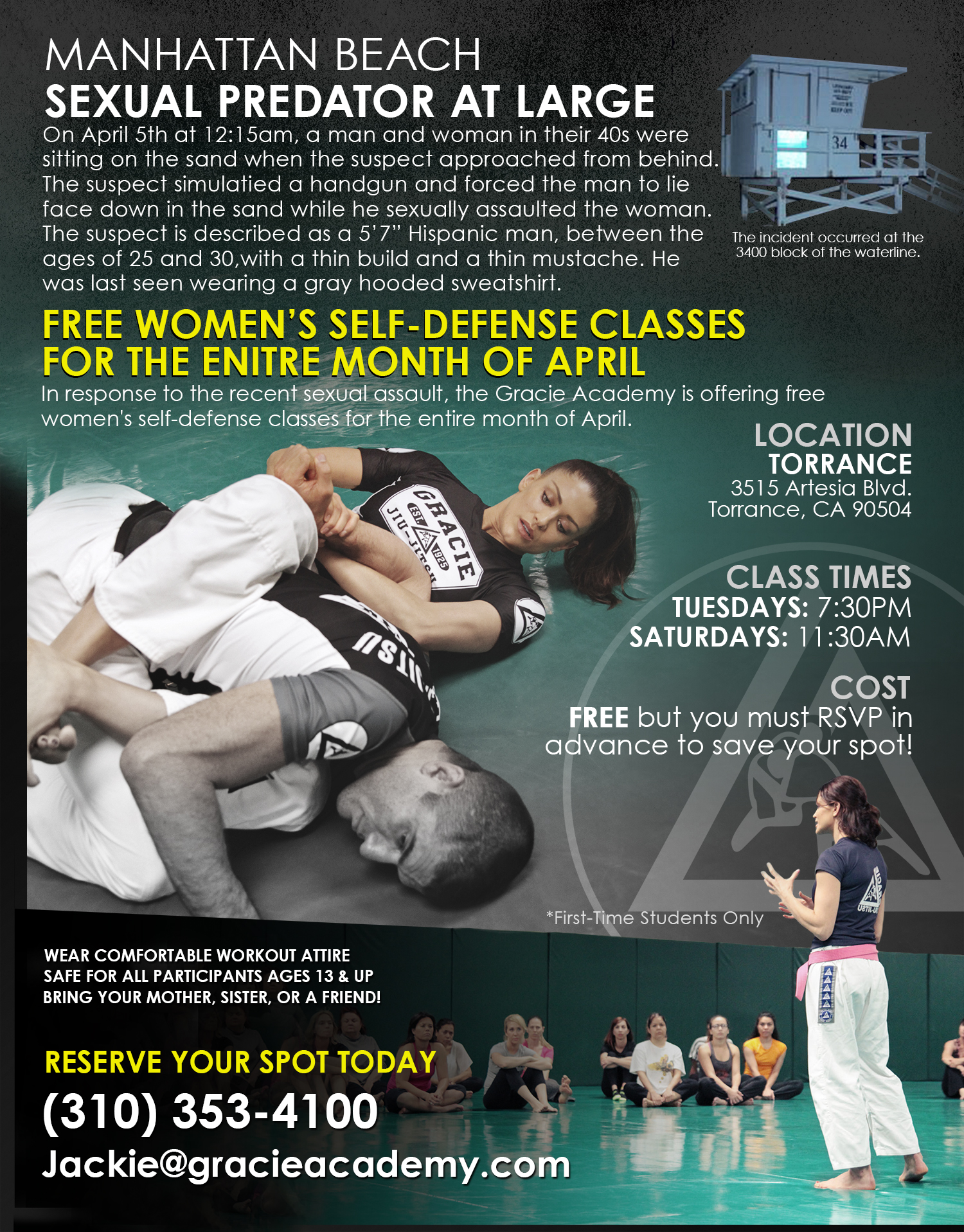 FREE Women Empowered Classes for the month of April