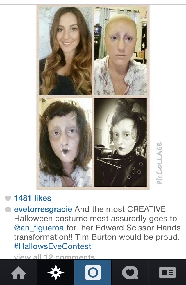 … and the winner of the Instagram #HallowsEveContest is……!