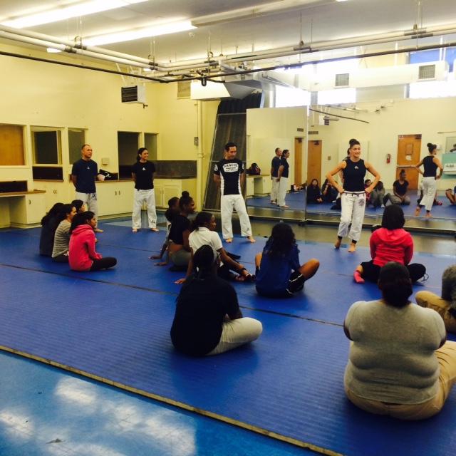Eve teaches self-defense at Crenshaw High School
