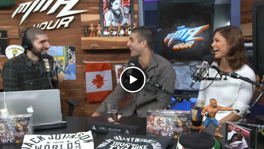 Rener and I stopped by Ariel Helwani's MMA Hour!