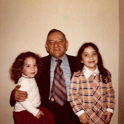 1973: Maris on the right with her grandfather and sister Diane on the left.