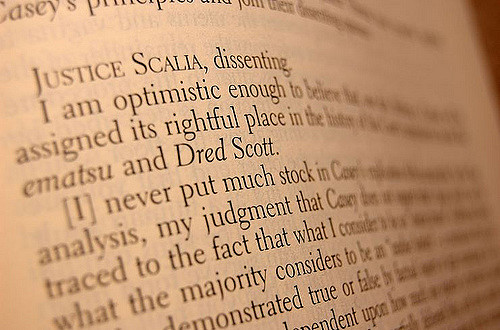 Justice Scalia dissenting. Photo courtesy Flickr user Christopher Meredith