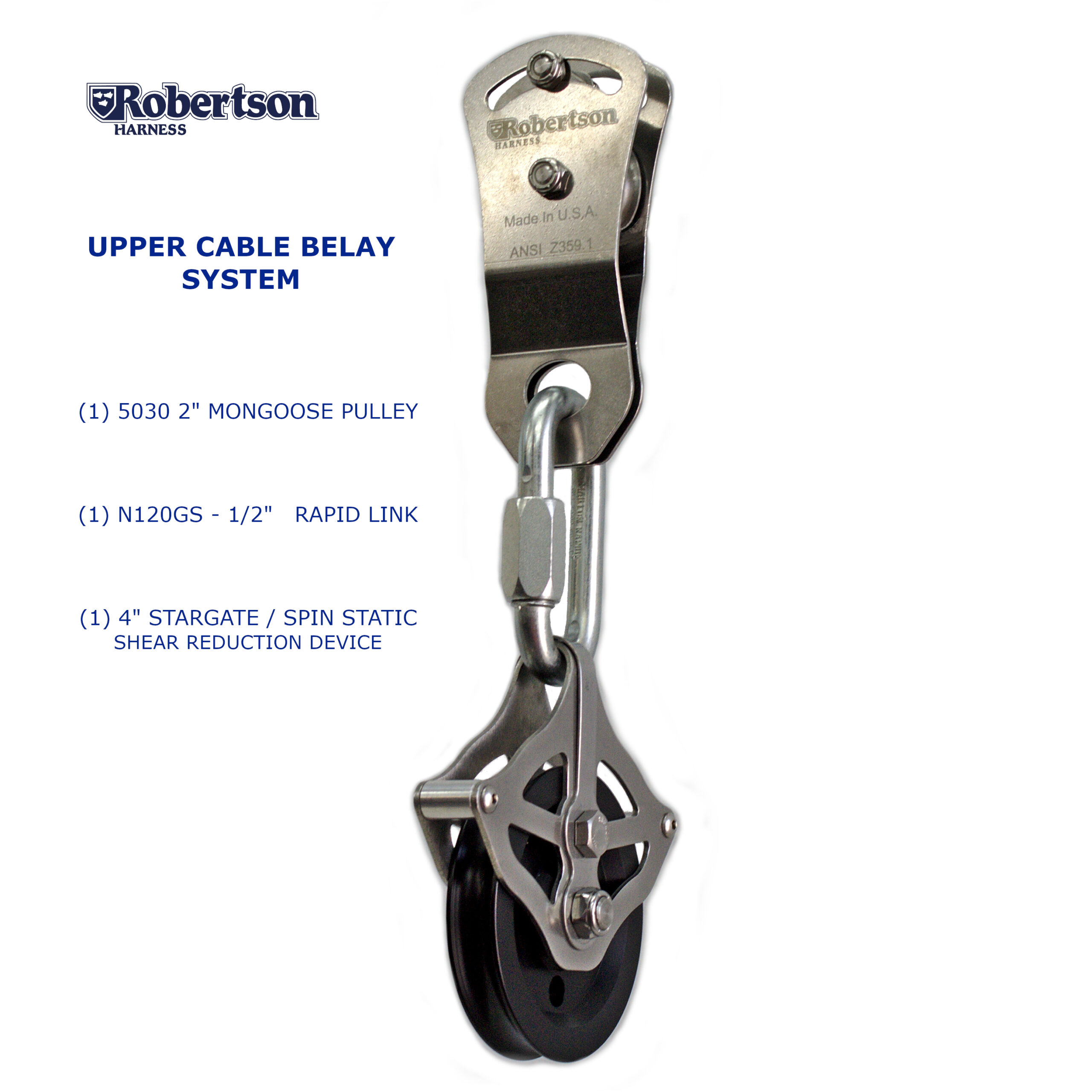 Upper Cable Belay System