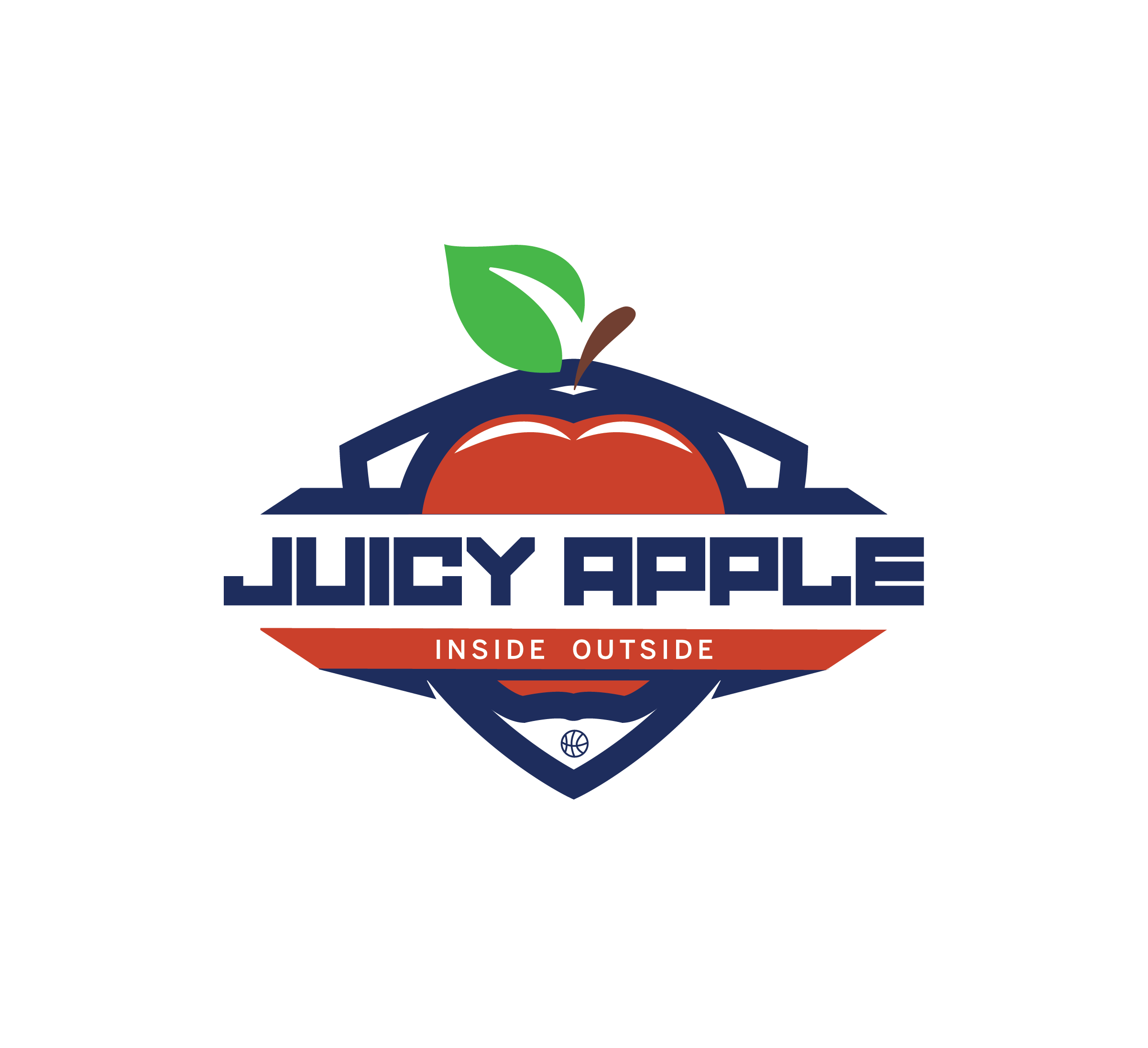 Juicy apple basketball team logo