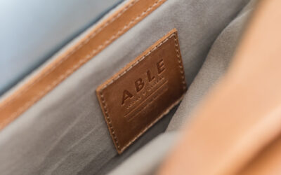 ABLE Leather Backpack
