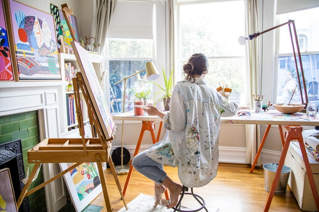 The Creative Exponent | Creative Spaces | Mary Finlayson's Studio