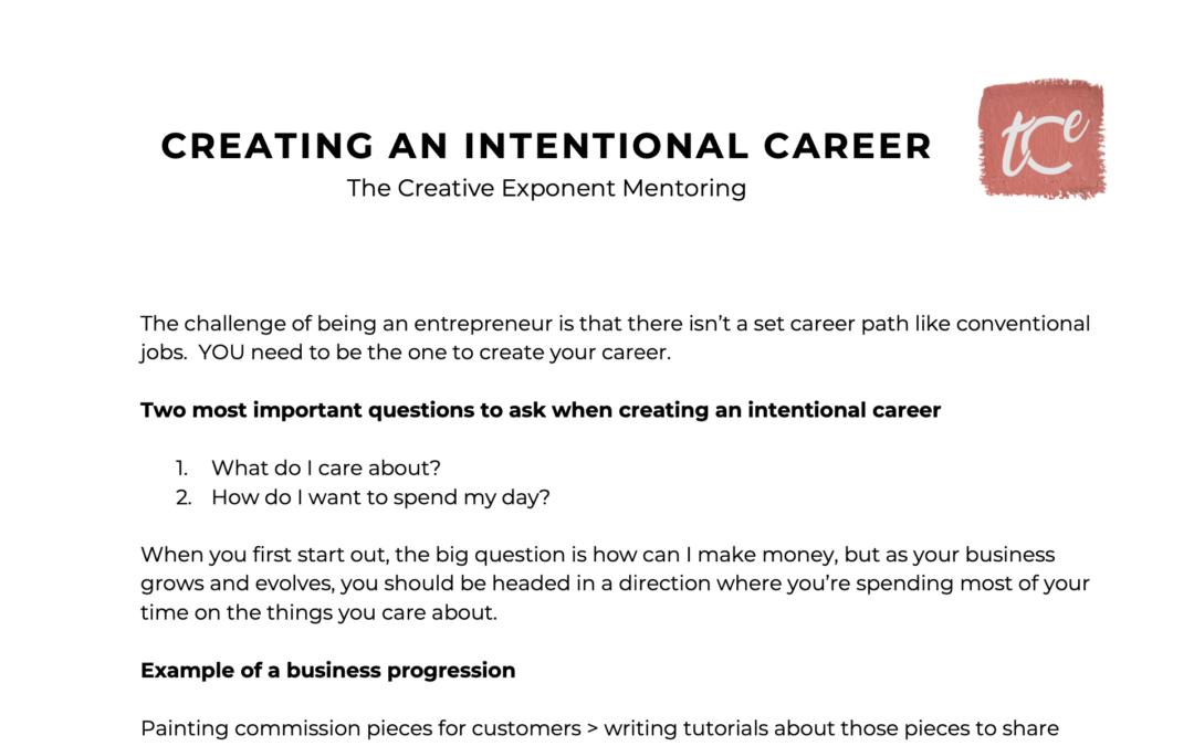 Creating an Intentional Career