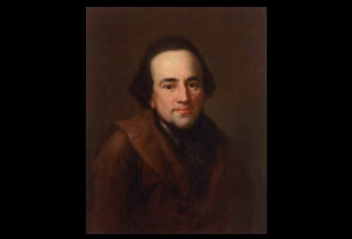 Moses Mendelssohn, philosopher and grandfather of Felix Mendelssohn Bartholdy and Fanny Hensel, by Anton Graff