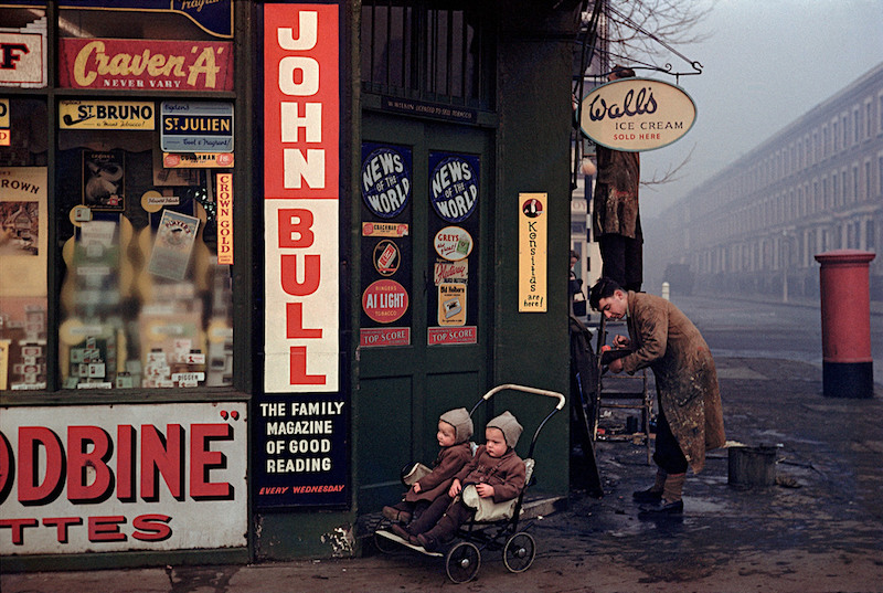 Street corner at World's End, London, 1954