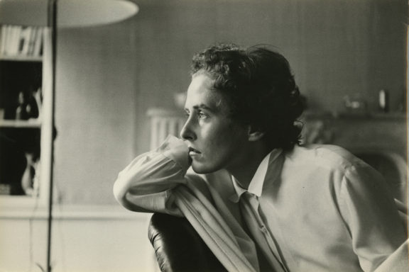Inge Morath, 1956. Photographer unknown.