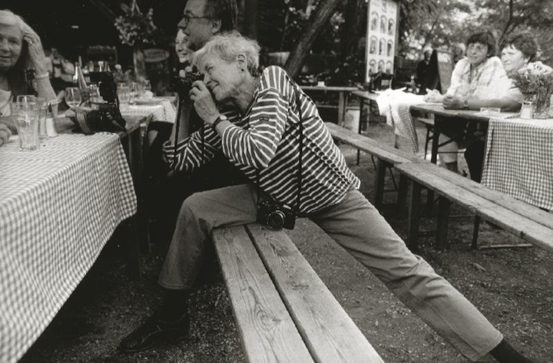 Inge at work, 2001. © Stojan Kerbler