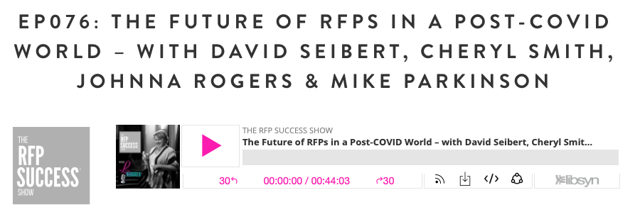 Screenshot Of Podcast Title For Future Of RFPs