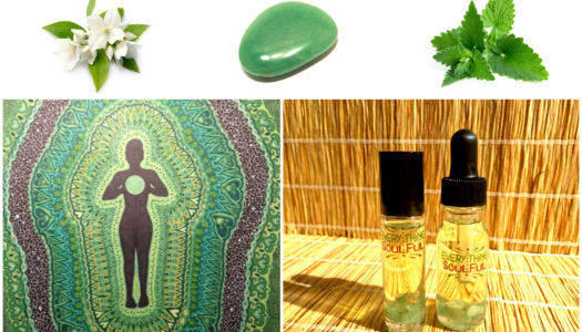 HEART Infused with Green Aventurine Crystal Aromatherapy Potion