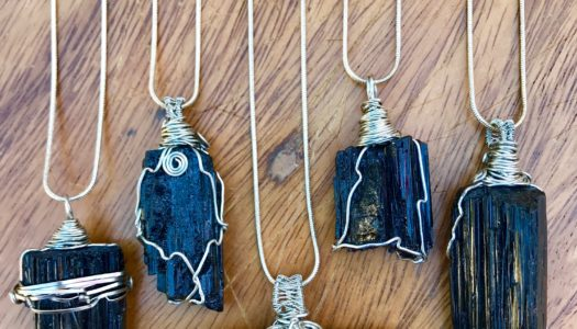 Black Tourmaline: Protection and Grounding Hand Wrapped Pendant