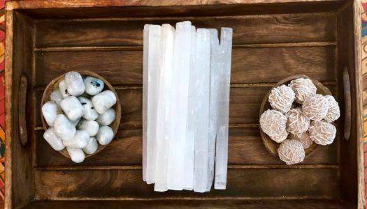 Tools of Enlightenment: Moonstone, Selenite and Desert Rose