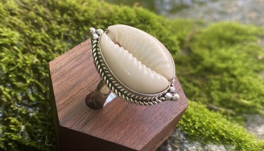 Cowrie Shell Ring: Protection and Prosperity (Sterling Silver)