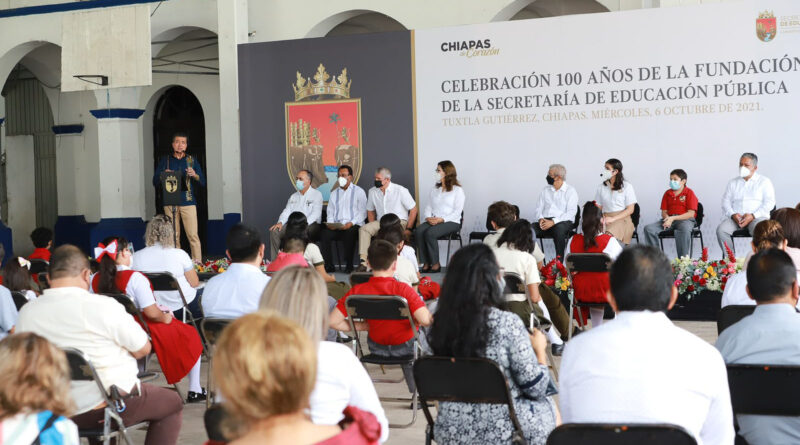 Rutilio Escandón conmemora los 100 años de fundación de la Secretaría de Educación Pública