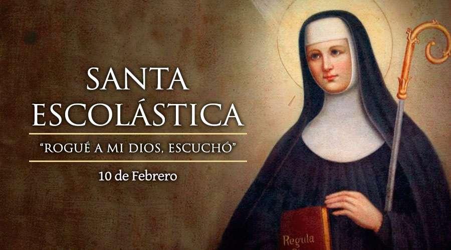 Santa Escolástica, Virgen